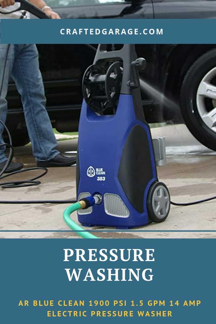 AR Blue Clean 1900 PSI 1.5 GPM 14 amp electric pressure washer