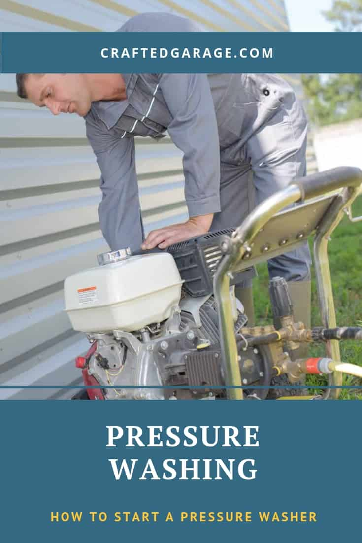 How to start a pressure washer