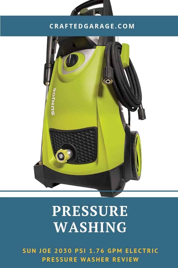 Sun Joe SPX 3000 2030 PSI 1.76 GPM electric pressure washer review