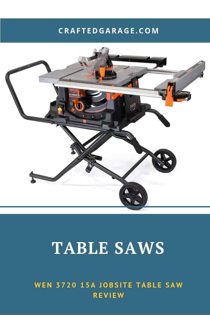 WEN 3720 15A Jobsite Table Saw with Rolling Stand Review