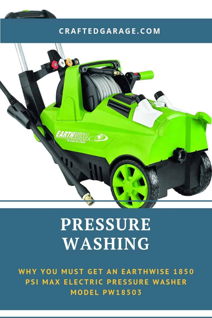 Why you must get an Earthwise 1850 PSI MAX Electric Pressure Washer Model PW18503