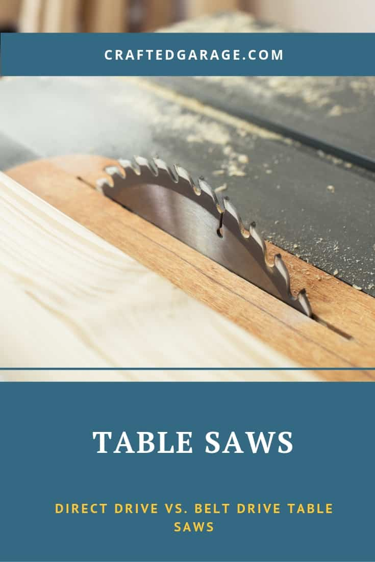 Direct drive vs. belt drive table saws