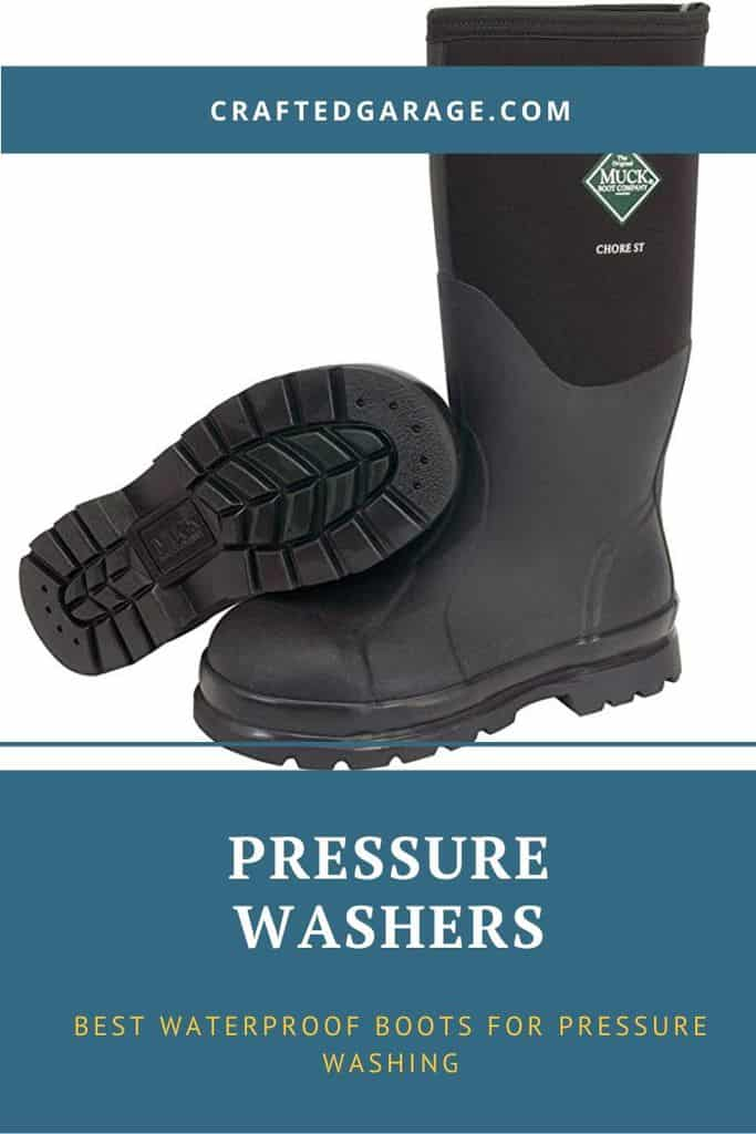 3 Best Waterproof Boots for Pressure Washing (Reviews and buyers guide)