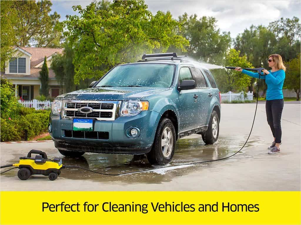 Karcher K3 Follow-Me electric pressure washer car washing