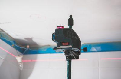 laser level for electricians spot lights