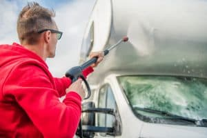 How to wash an RV with a pressure washer