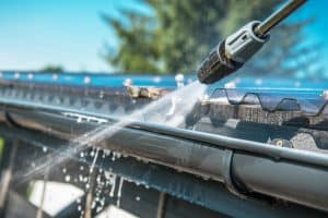 How to pressure wash gutters properly Rain Gutters Pressure Cleaning